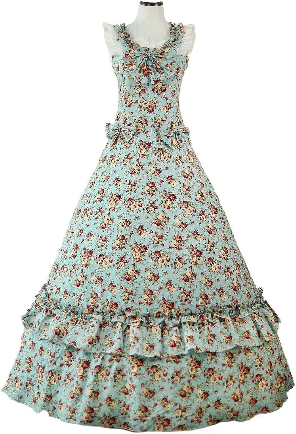 Amazon.com: Vestido de bola de máscara, diseño floral gótico ...