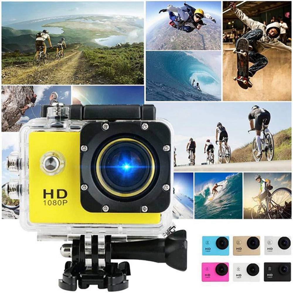 Tawcal Digital Sports DV Camera Mini Waterproof Sports Cameras 4k with WiFi Waterproof Camera for Extreme Sports Diving Action Camera