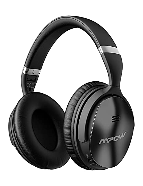 Mpow H5 sobre oreja Auriculares con cancelación de ruido Bluetooth Auriculares, estéreo inalámbrico auriculares w