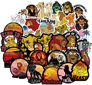 50Pcs Hot Disney The Lion King Stickers for Water Bottle Cup Laptop Guitar Car Motorcycle Bike Skateboard Luggage Box Vinyl Waterproof Graffiti Patches JKT