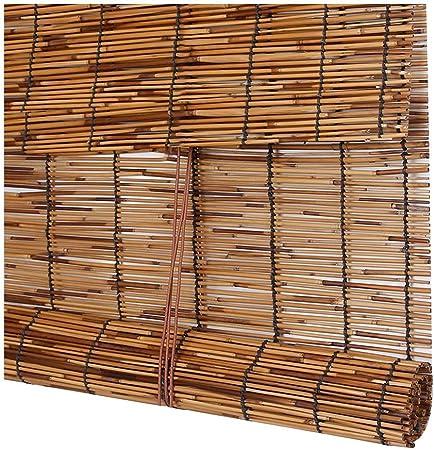 Koovin persianas enrollables-Persiana de bambú-Cortinas de Paja de caña, protección Solar Opaca enrollables venecianas para Exteriores/jardín,Personalizables: Amazon.es: Hogar