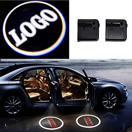 2x for Toyota Wireless Ghost Shadow Projector Logo LED Light Courtesy Door Step