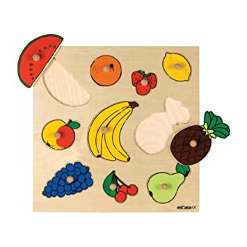 Sona Edons InlayBoard Puzzle - Fruits for Kids & Childrens