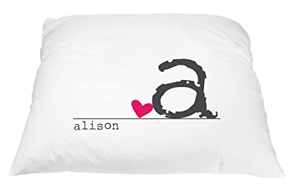 Personalized Heart Name Pillowcase Microfiber Polyester Standard 20 by 30  Inches e9553ca6c