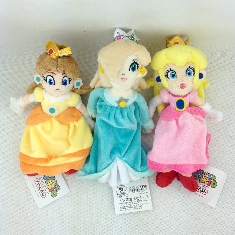 "Princess Rosalina Super Mario Bros Galaxy Plush Soft Toy Stuffed Animal New 8/"""