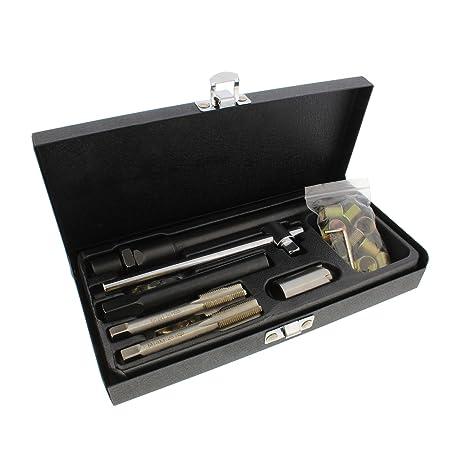 ABN Bujía Para Reparación rethreading Set, 14 mm Métricas – rethreading Kit de herramientas –
