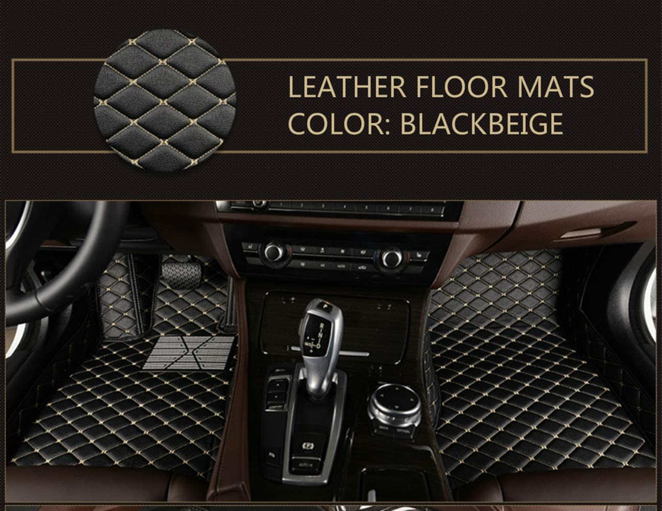 Custom Car Floor Mats for Toyota Venza 2009-2017 Full Surrounded Waterproof Anti-Slip All Weather Protection Leather Material Car mat Carpet Liners Interior Accessories Black
