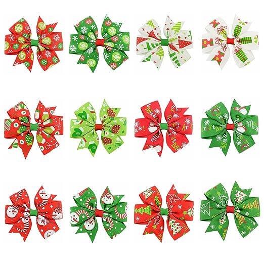 Christmas Hair Clip Polar Express Holiday Bow Ticket Gold Toddler