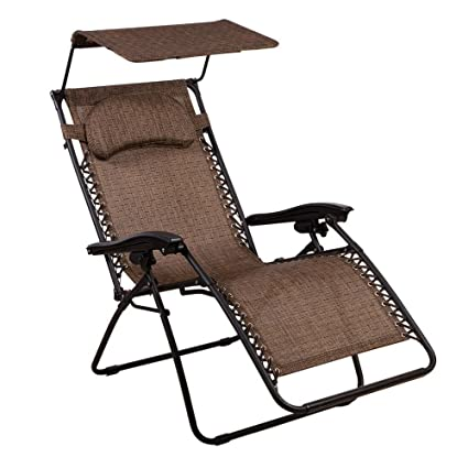 Delicieux SummerWinds Oversized Zero Gravity Chair With Canopy