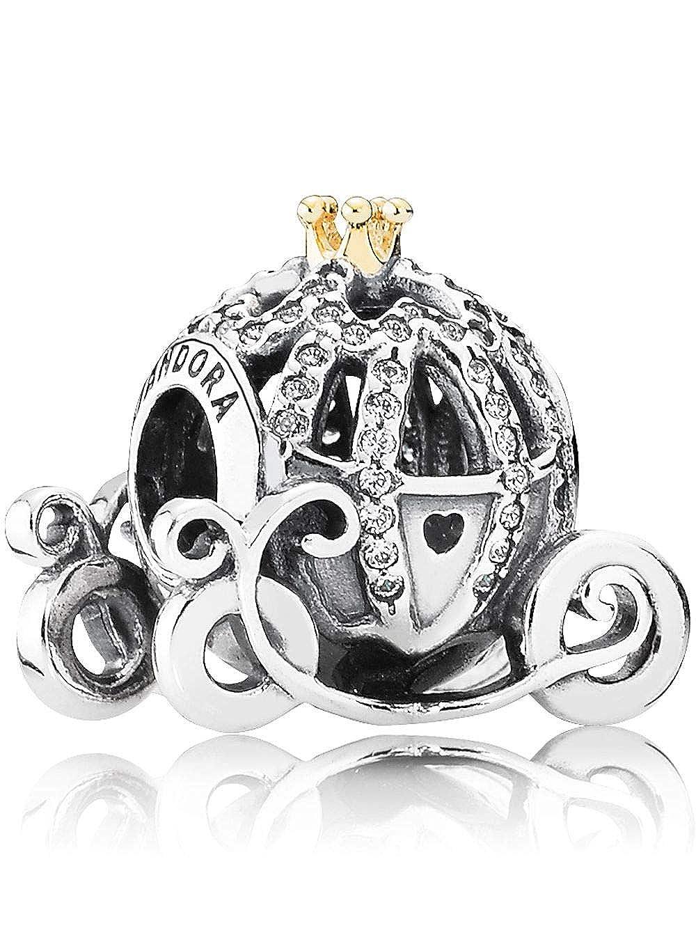 a60667797 Amazon.com: Pandora Disney Cinderella's Pumpkin Coach Charm 791573CZ:  Jewelry