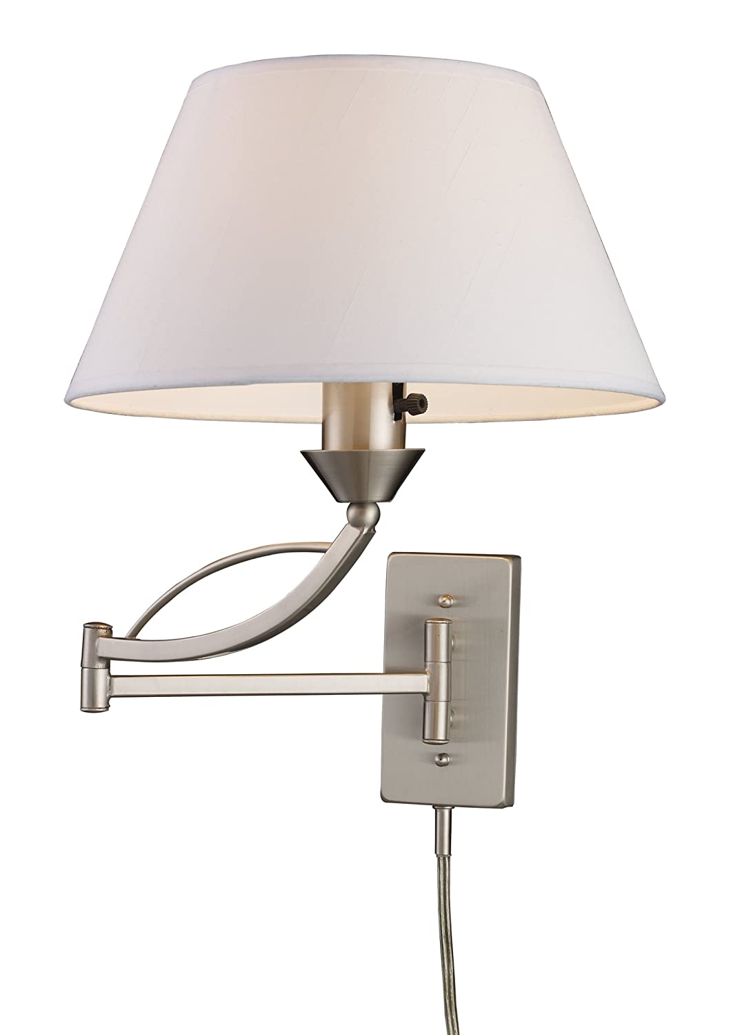 Elk 17016/1 Elysburg 1-Light Swing arm Sconce In Satin Nickel - Wall Sconces - Amazon.com  sc 1 st  Amazon.com & Elk 17016/1 Elysburg 1-Light Swing arm Sconce In Satin Nickel ... azcodes.com