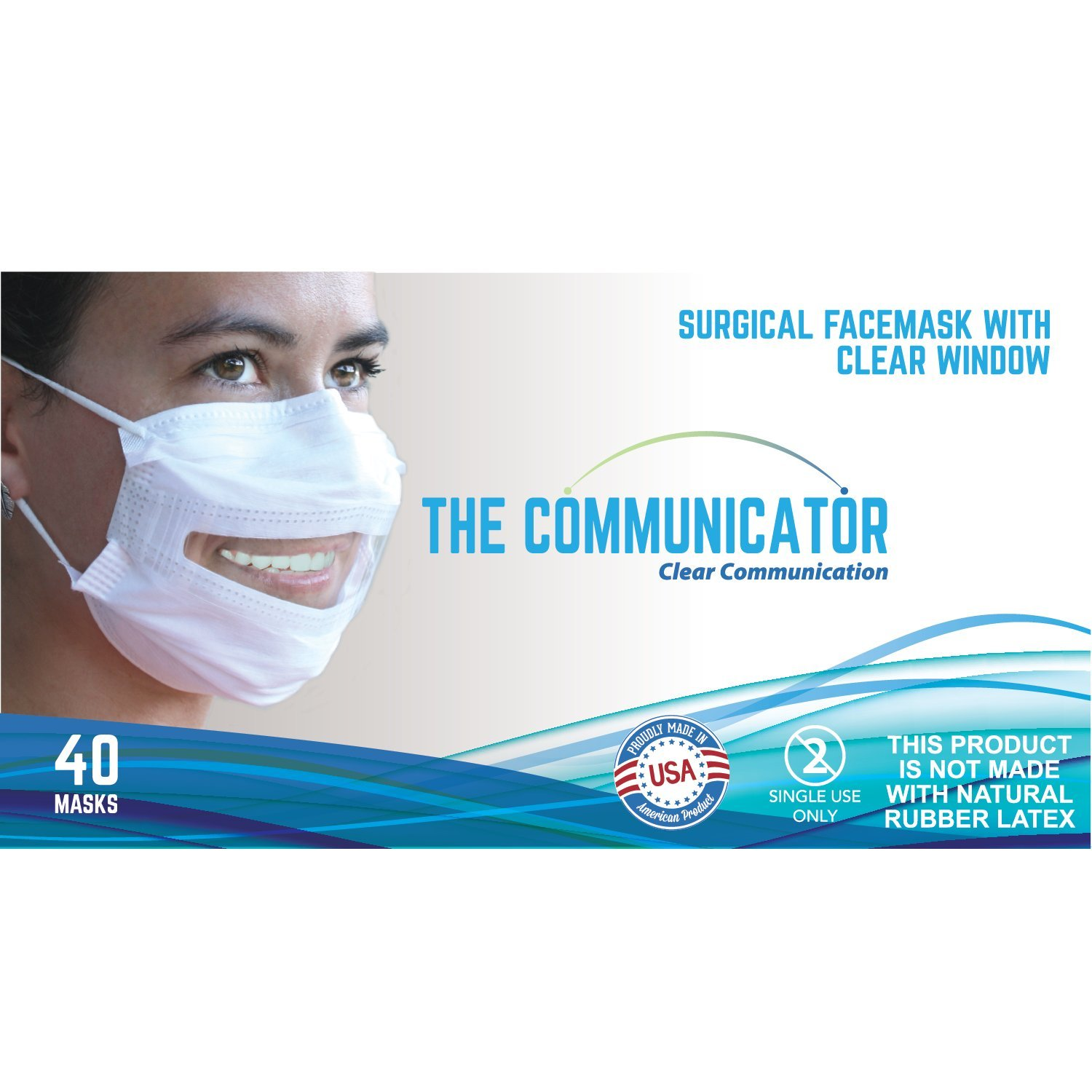 Amazon com Communicator With Surgical Face Mask Window Clear