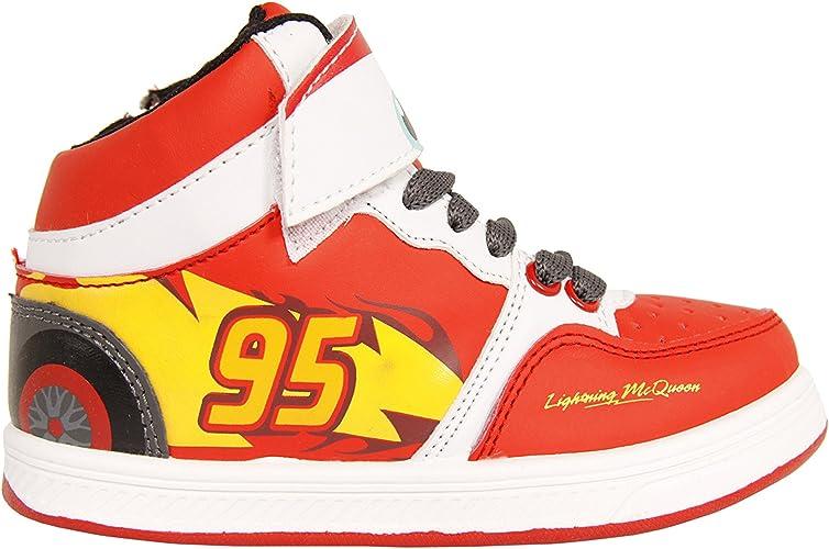 Cars Flash Mc Queen Zapatillas de Baloncesto para ni/ño