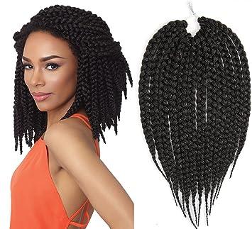 Amazoncom Synthetic Hair Crochet Braid 14 Big Box Braids 3x