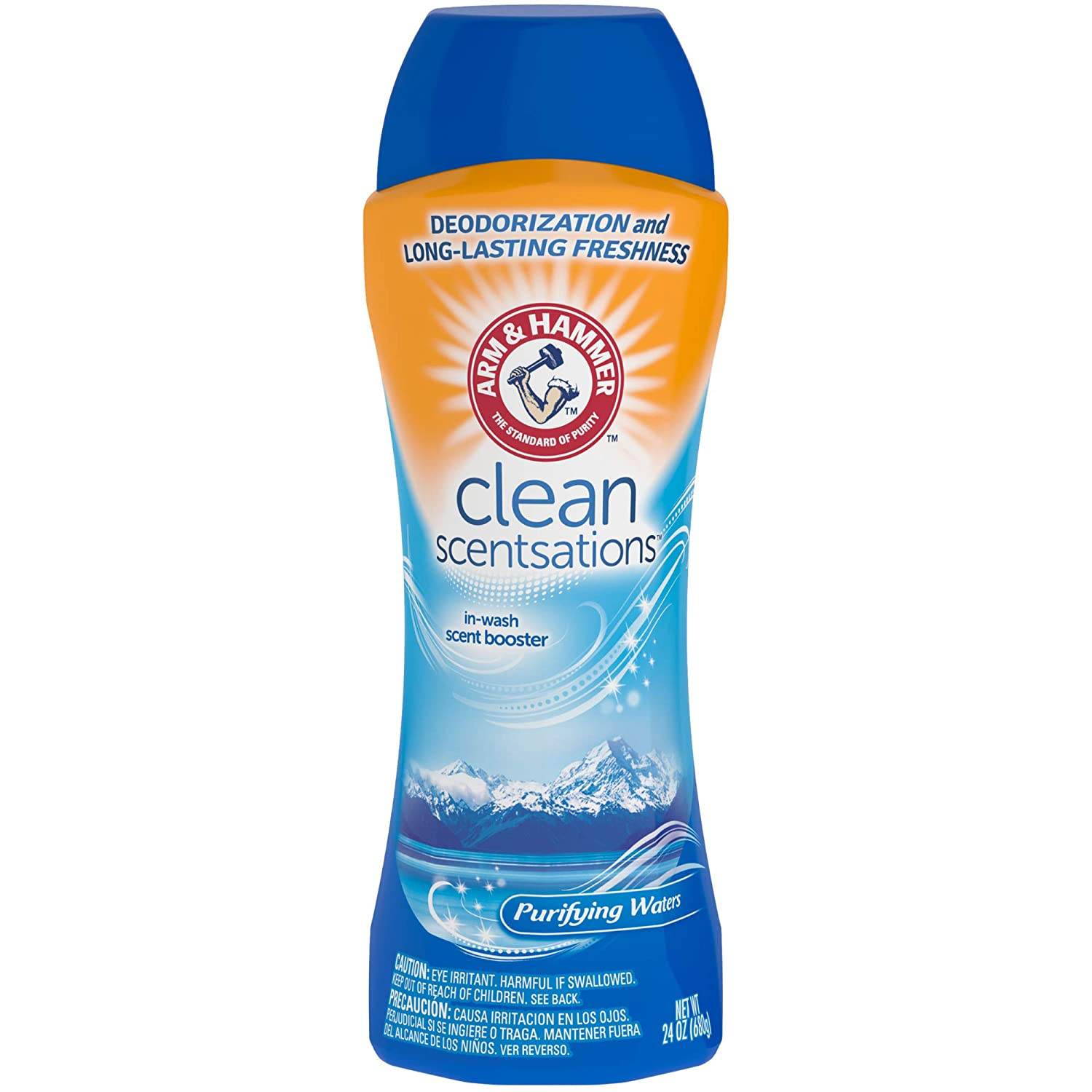 Arm & Hammer In-Wash Scent Booster, Purifying Waters, 24 oz (6 Pack)