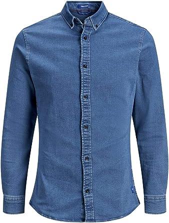 Jack & Jones Jjigeorge Shirt Stretch LS Camisa Vaquera para Hombre: Amazon.es: Ropa y accesorios