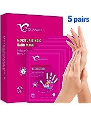 YOUPINWEI Moisturizing Hand Mask,Hydrating Glove for Dry Skin, Hand Care for Nourishing Smoothing Whitening Gift (5 Pairs/Box)
