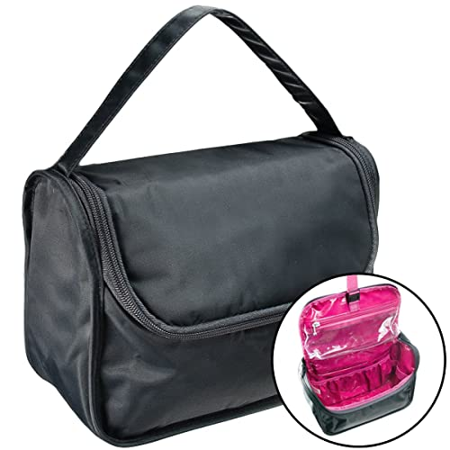 2b9e4b71f58b Image Unavailable. Image not available for. Color  Baggallini Grooming Bag  Travel Cosmetics Case Toiletry Hanging Organizer Pink