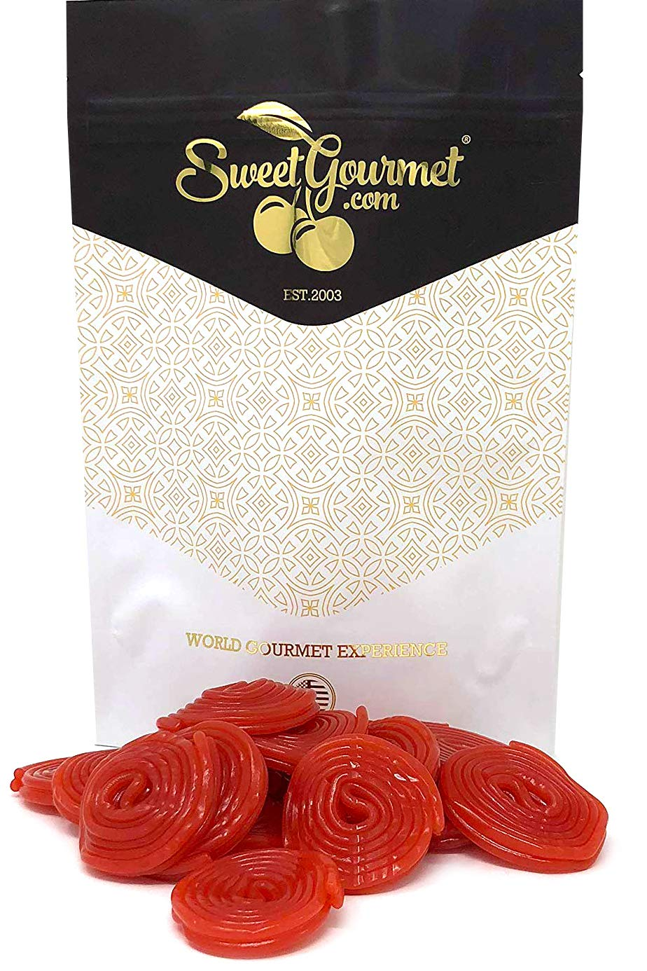 Italian Strawberry Licorice Wheels | Bulk Candy | Natural Colors and Flavors, GMO Free | 1 pound
