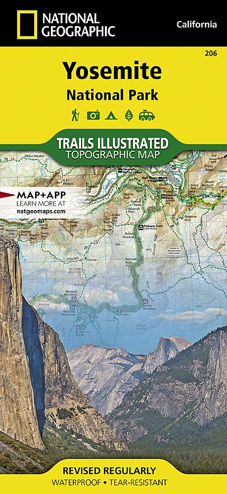 Yosemite National Park (National Geographic Trails Illustrated Map on capitol reef np map, canyonlands np map, sequoia nf map, olympic np map, denali np map, big bend np map, banff np map, park to park road map, sonoma valley map, badlands np map, haleakala np map, great basin np map, great sand dunes np map, katmai np map, kings canyon trail map, marin county map, sequoia np map, arches np map, everglades np map, rocky mountain np map,
