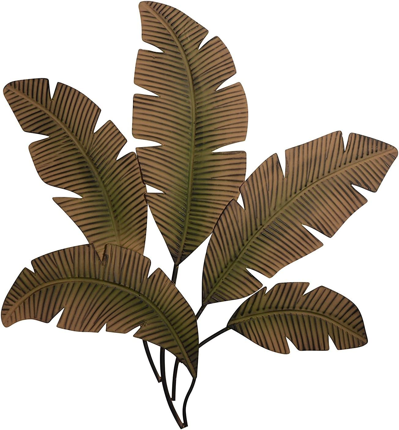 Ten Waterloo 65531-97920 Palm Leaf Metal Wall Art Sculpture 35 Inches Wide x 34 Inches High, Matte Finish