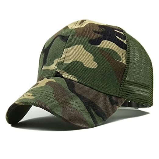 d329c92cdb9 Jeremy Stone New Camo Mesh Baseball Cap Men Camouflage Caps Summer Hat Men Army  Cap Trucker Snapback caps Hip Hop Dad hat at Amazon Women s Clothing store
