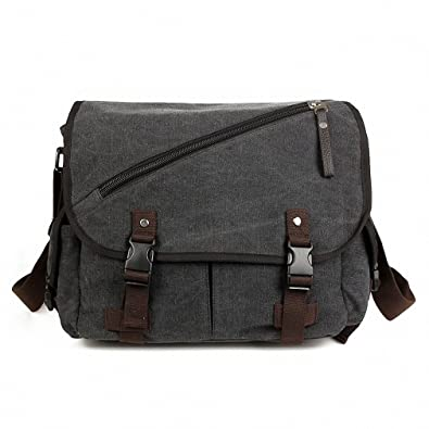 Amazon.com: bestbag Canvas – Bolso bandolera hombre bolsa ...
