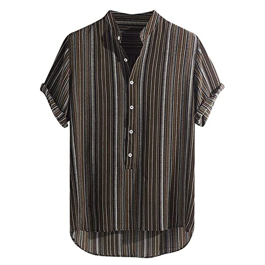 259e0669aeab IHGTZS Shirts for Men, Father's Day Summer Classic Fit Check Non-Iron Dress  Shirt