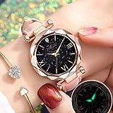Women Watch Round Dial Quartz Jewelry Watch Wrist Bracelet Watch Gift For Her Adjustable Strap