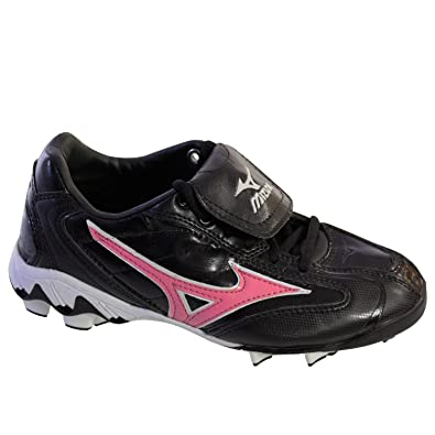 4766cf8f42f4 Image Unavailable. Image not available for. Color: Mizuno Finch Franchise  320285 Womens Softball Molded Cleats Black Pink ...