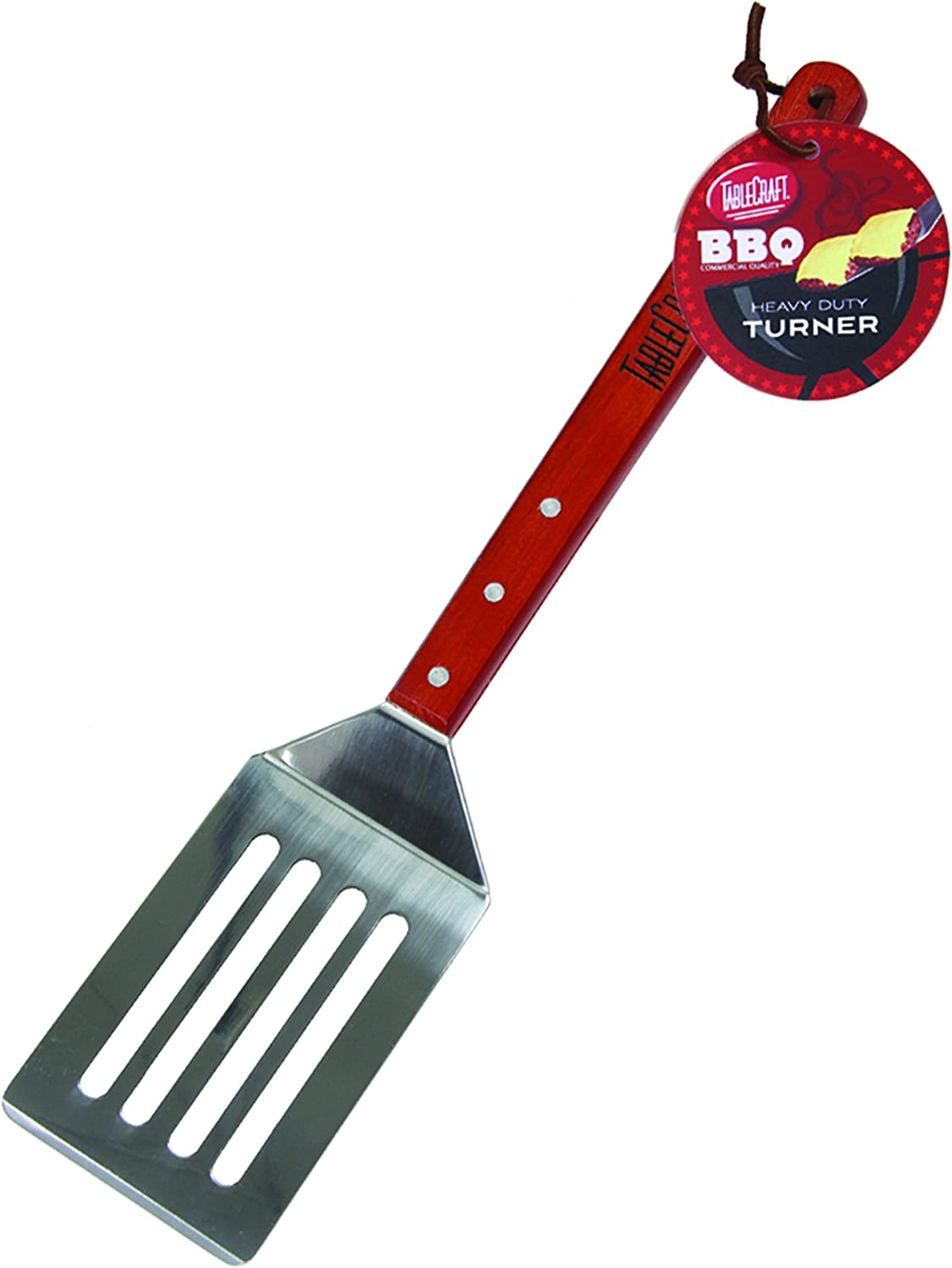 19-Inch Silver TableCraft BBQS BBQ Stainless Steel Long Handled Turner with Wood Handle