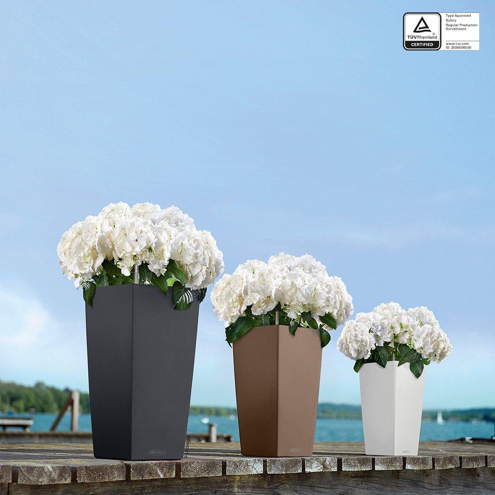 Lechuza Cubico Color 40 Planter, Slate Matte