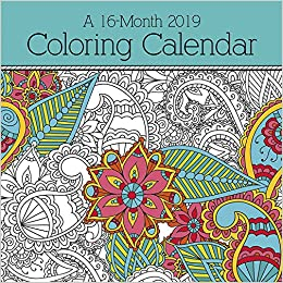 amazoncom 2019 coloring calendar wall calendar 9781438861296 trends international books
