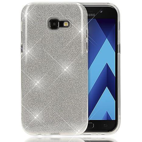920b9fe201f1 NALIA Coque Silicone Compatible avec Samsung Galaxy A5 2017, Fine Glitter  Housse Protection Slim Case