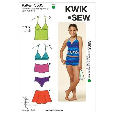 Amazon.com: Kwik Sew K3605 Mix and Match Swimwear Sewing Pattern ...