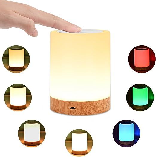 Amazon.com: KMASHI Lámpara de noche de mesa, lámparas de ...