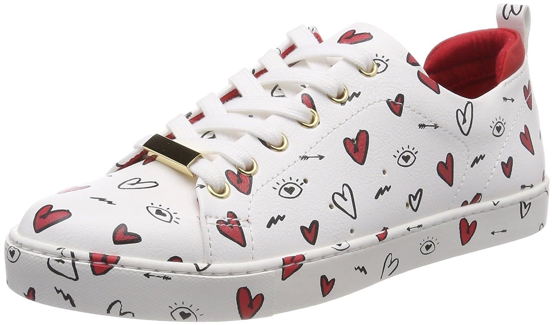 Aldo Merane-n, Zapatillas para Mujer 37 EU|Multicolor (Valentin Day S18 White/Black/Red)