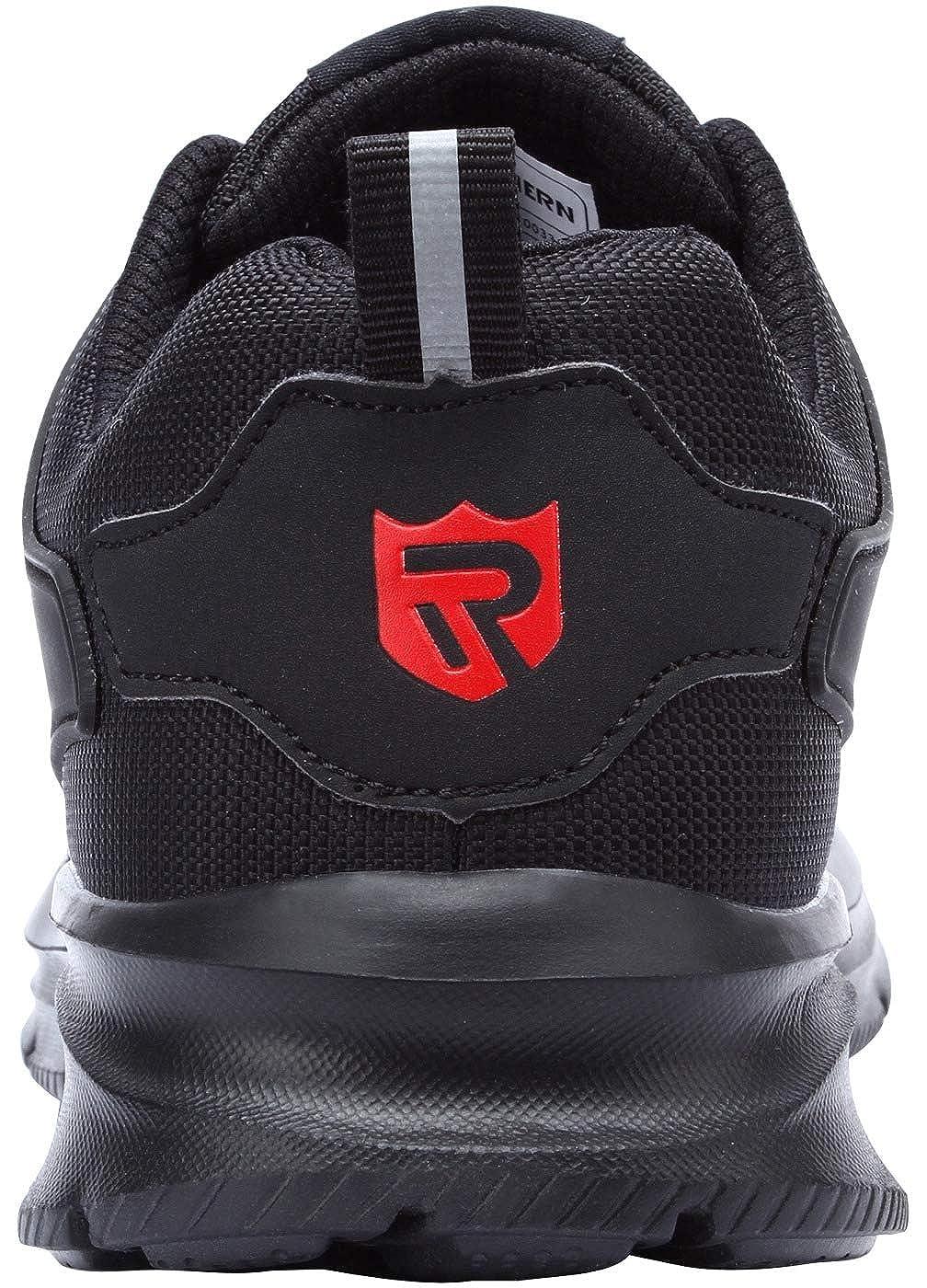 Black 42.5 EU Scarpe Antinfortunistica Uomo Donna Estive S3 Scarpe da Lavoro con Punta in Acciaio Sicurezza Scarpe Sportive Scarpe Antinfortunistiche Unisex LM-033