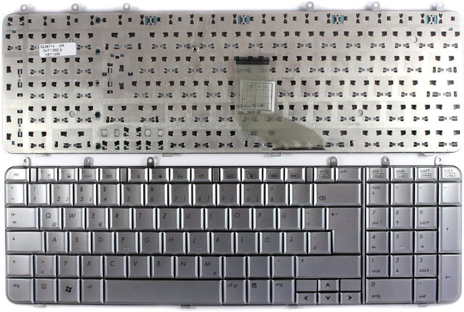 Keyboards4Laptops German Layout Silver Laptop Keyboard Compatible with HP Pavilion DV7-1252EG HP Pavilion DV7-1260EK HP Pavilion DV7-1253CA HP Pavilion dv7-1253eo HP Pavilion DV7-1255EO