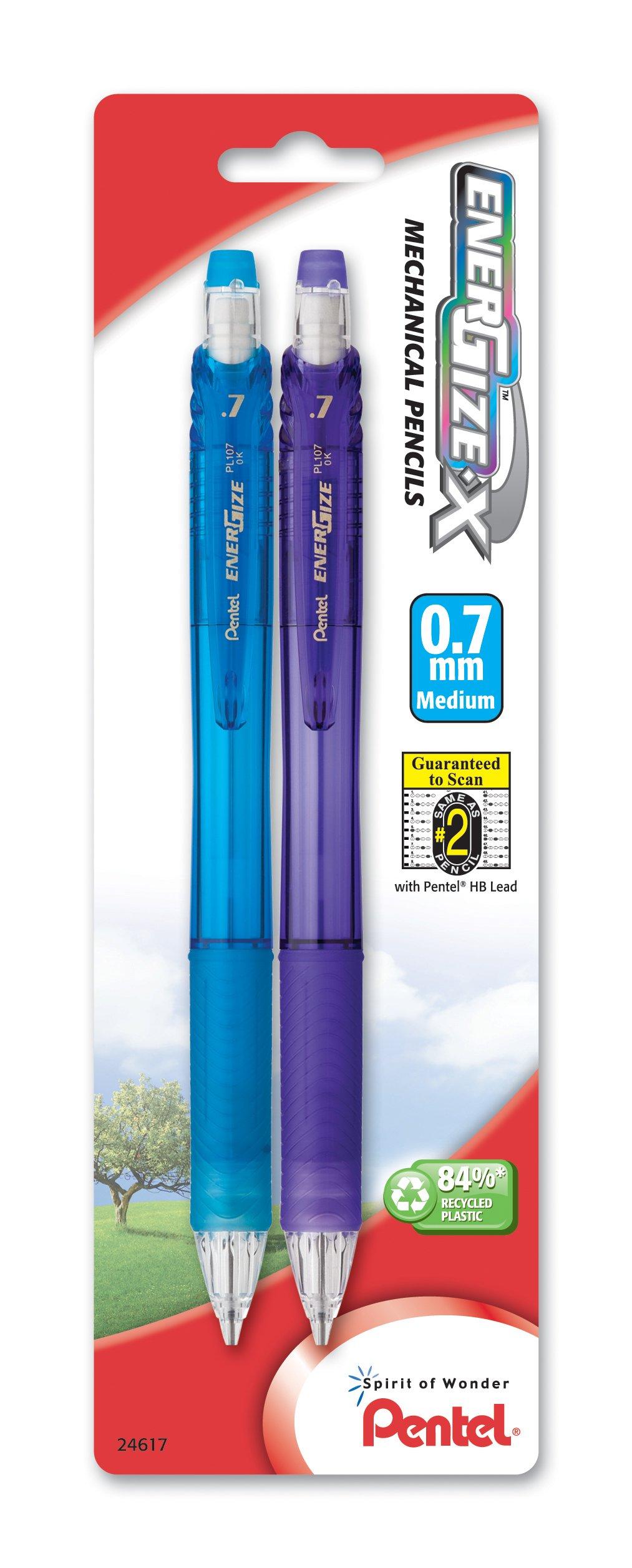 2 x Pentel EnerGize-X lápiz portaminas