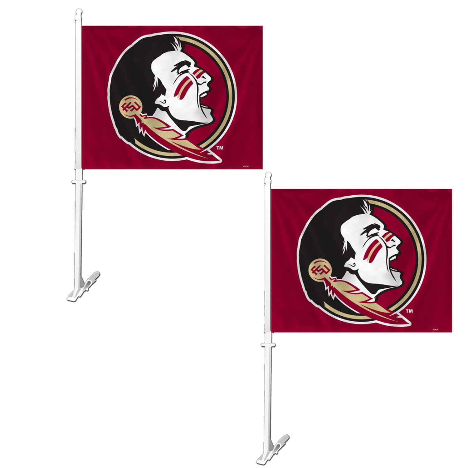 Show School Pride While Driving NCAA Official National Collegiate Athletic Association Fan Shop Authentic 2-Pack Car Flag