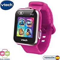 Vtech 80-193847 Kidizoom Smart Watch DX2 - Reloj inteligente para niños con doble cámara, color Frambuesa