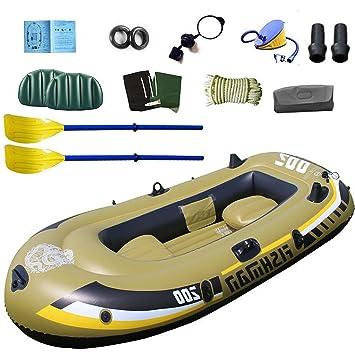 TY BEI - Barco de Pesca Hinchable para 2 Personas, 2,30 x 1 ...