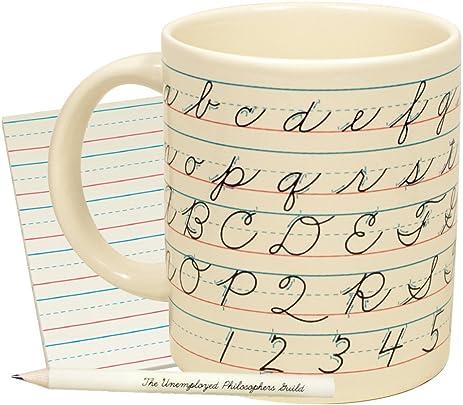 Amazon Penmanship Coffee Mug All of the Cursive Letters as