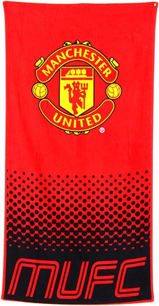 Manchester City FC Official Soccer Crest Design Fade Beach Towel