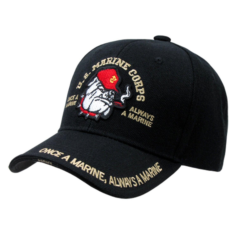 RapDom U.S. Marine Corps Bulldog The Legend Mens Cap  Black - Adjustable  bd111cbba526