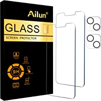 Ailun 2 Pack Screen Protector Compatible for iPhone 13 [6.1 inch Display]with 2 Pack Tempered Glass Camera Lens…