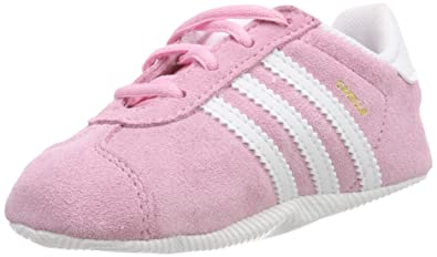 adidas Originals Gazelle Crib Shoes 5 M US Toddler True Pink FTWR White Gold c6a0469a944