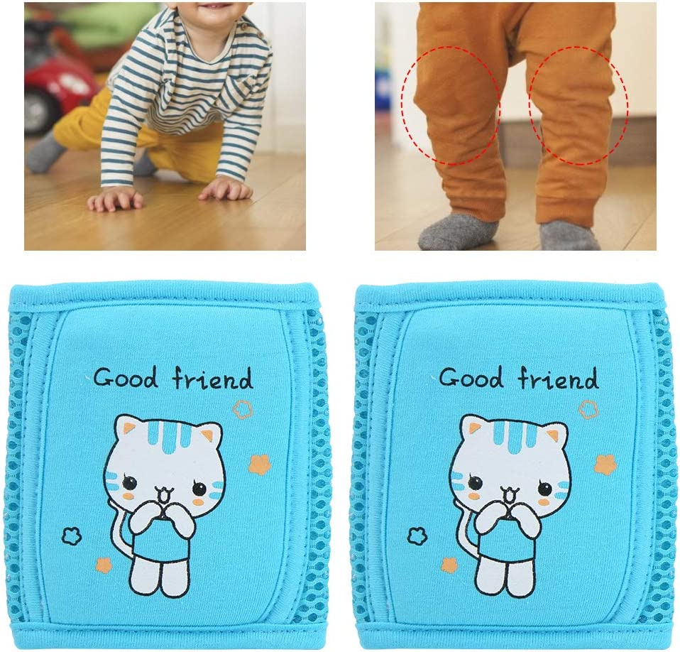 Blue Comfortable Soft Leg Protector Warmer Accessories for Kids Toddler Boys Girls Unisex Baby Knee Pads for Crawling