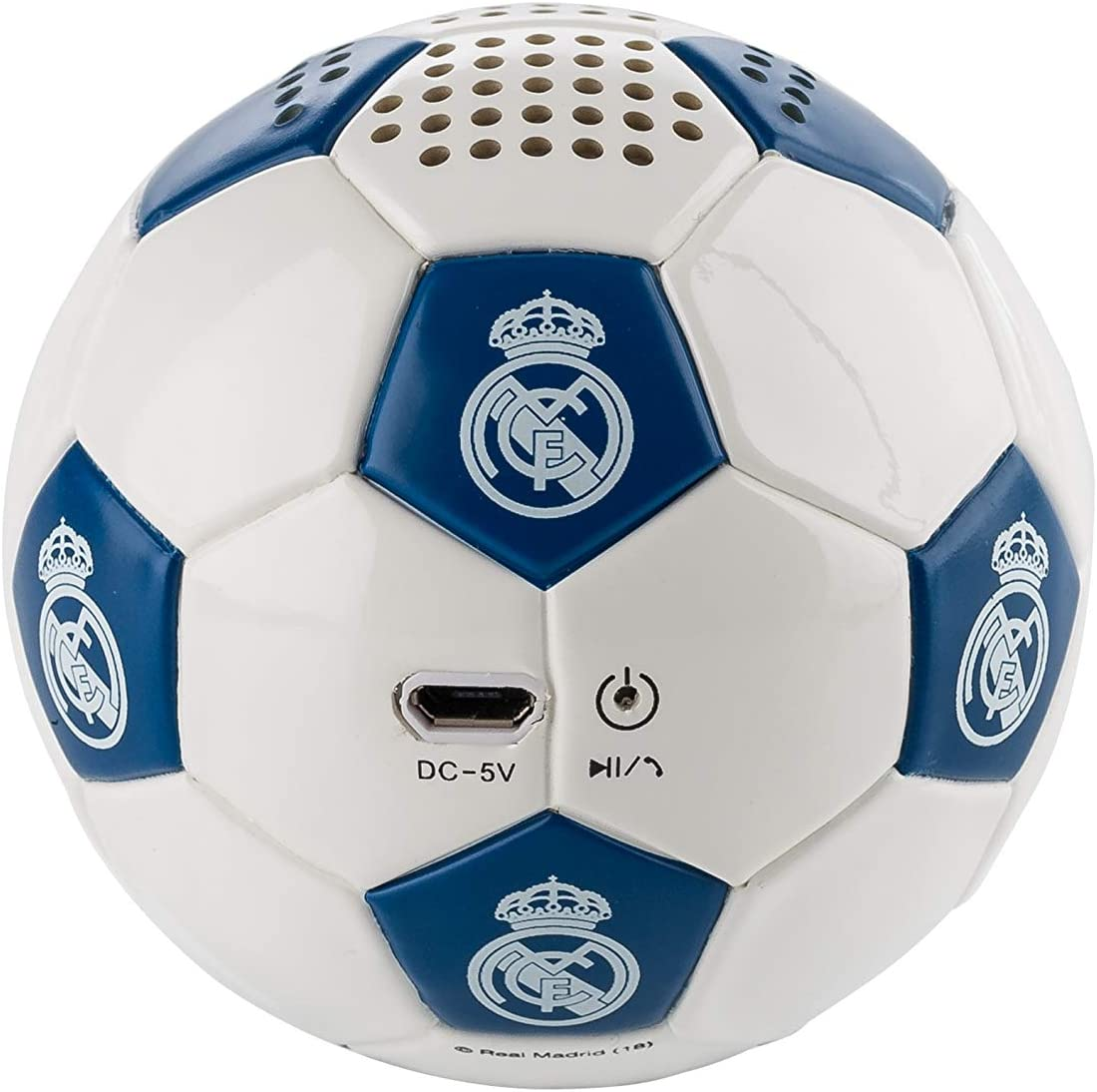 Real Madrid - Altavoz Inalámbrico Balón, Blanco/Azul: Amazon.es ...